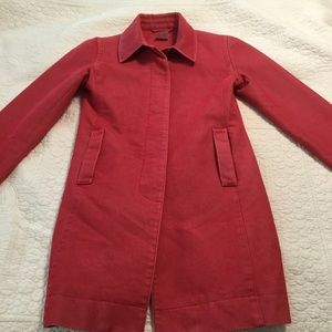 ESPIRIT Red Lined Jacket. Size XS Vintage